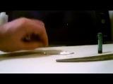 Как сделать зажигалку из батарейки и фольги от жевательной резинки